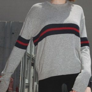 brandy melville grey striped sweater